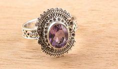 925 Silver Amehtyst Gemstone Ring, Silver Jewelry from Edelsteinschmuck by DaWanda.com