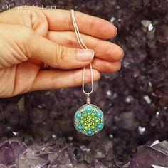 Mandala stone pendant by Elspeth McLean
