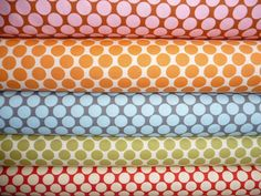 amy butler fabric- lotus full moon in tangerine. Curtains?