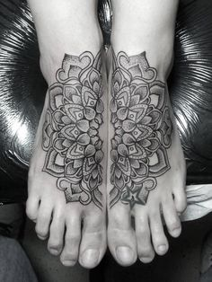 foot mandala tattoo