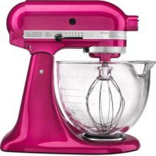 Kitchen Aid Mixer- I NEED this. Although my hubby probably won't let me get bright pink. So cute, though!