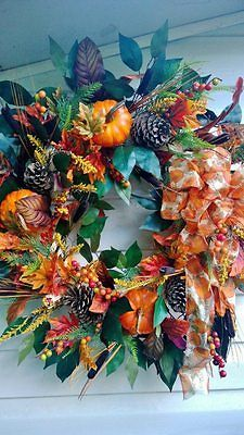 GORGEOUS-GORGEOUS-FALL-HARVEST-PUMPKIN-WREATH-MADE-BY-LILYS-FLOWERS-AND-GIFTS