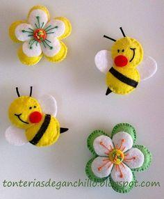 Molde para hacer diferentes abeja de fieltro Gratis (8)