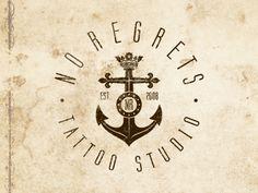 No Regrets - final version  by Type and Signs. Un buen nombre para un estudio de tatuajes, sin duda.