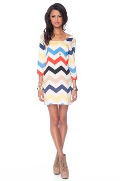 Colorful Chevron Dress.