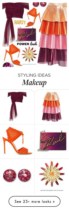 """""""party 2018"""" by nezahat-kaya on Polyvore featuring River Island, Delfi Collective, Karl Lagerfeld, Gianvito Rossi, Tory Burch, Buy Seasons, girlpower and powerlook"""