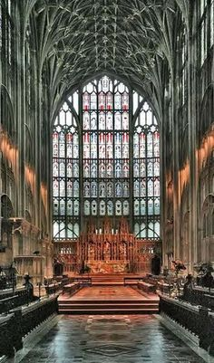 Gloucester Cathedral boasts the largest stain glass window in England, installed in the 1300's