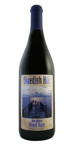 Blue Waters Pinot Noir, a fruit driven Finger Lakes dry red wine that has a velvety smooth finish. Find it today online, at one of Swedish Hill's three tasting rooms, or at a retail store near you!