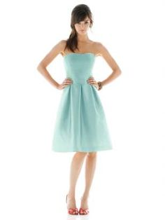 Tiffany Blue Bridesmaids dress - this would be lovely if simplicity fits the theme