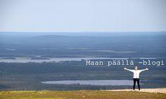 Levin huipulla. Kesä 2013. On top of Levi. Summer 2013. Finland, Lapland.