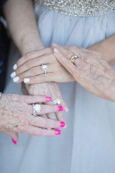 Wedding photos with your mom and grandma