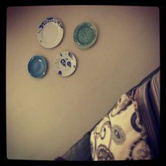 #wallart #plates #diy #livingroom #jo