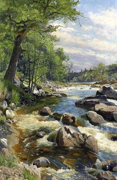 A Fast Flowin River by Peder Mork Monsted in PDF format. All my patterns are created using a combination of computer and hand correction and are designed in the '' pointillist '' style of art which is a technique of painting in which small distinct points of primary colors create the