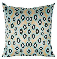 Coussin Coco Ikat Turquoise Square (S) - 40x40 from Mariska Meijers Amsterdam
