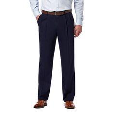 3a13ad0e6f oversizeBig & Tall Haggar Premium Classic-Fit Stretch Pleated Dress Pants,  Men's, Size: 56X32, Blue