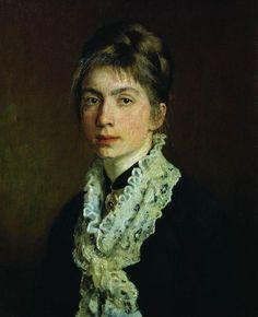 Ilya Repin Portrait of M.P. Shevtsova, wife of A. Shevtsov, 1876