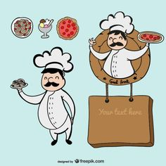 Chef character cartoon