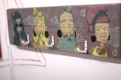 Bearded sailors illustrated wooden hanger a by littlerocksPK