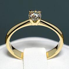Inel din aur galben cu diamant model i026 Aur, Model, Engagement Rings, Elegant, Wedding, Jewelry, Design, Fashion, Engagement