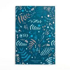 "Nathalie Ouederni A6 Muistivihko ""Winter Leaves"" Winter Leaves, Paper Goods, Print Patterns, World, Illustration, Shop, Prints, Inspiration, Biblical Inspiration"