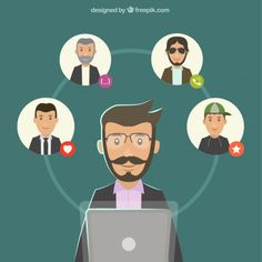 Business video conference Free Vector