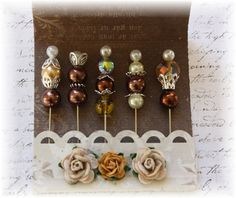 Mini Matchbook Decorative Stick Pins Antiquity for Scrapbooking or Cardmaking