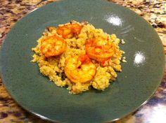 Shrimp and paleo couscous/rice