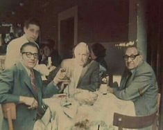 Anthony Accardo (far right) enjoying alittle R&R time and dining with some friends.