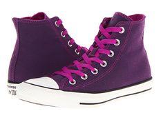 Converse Chuck Taylor® All Star® Dark Wash Neons Hi Purple Cactus Flower Neon Sneakers, Neon Shoes, Purple Sneakers, Lace Sneakers, Purple Shoes, Star Shoes, Lace Up Shoes, Cute Shoes, Women's Shoes
