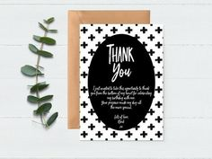 Party Thank You Card, Thank You Card, Greeting Thank You Notes, Thank You Cards, 50th Party, Wedding Thank You, Photo Props, Party Invitations, Weddings, Handmade Gifts, Etsy