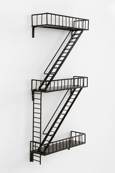 """Fire Escape Wall Shelf from urban outfitters ... store """"action figures"""" on it!"""