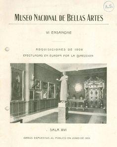 Catálogo Muestra Adquisiciones 1908              Museo Nacional de Bellas Artes.