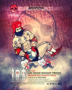 ab exercise: russian twists brosputin