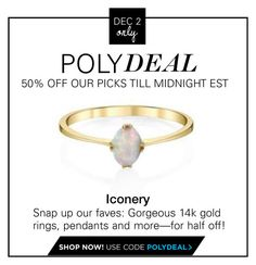 """""""Polydeal: 50% off Iconery jewelry"""" by polyvore-editorial ❤ liked on Polyvore featuring PolyDeals"""