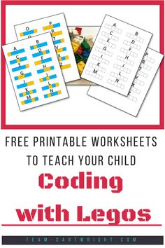 Kids Can Code! Simple and Fun Lego Coding Activities Teach your children coding with legos! These free printables will help kids learn about coding. Lego Activities, Toddler Learning Activities, Kids Learning, Computer Activities For Kids, Lego Coding, Computer Coding, Computer Science, Basic Coding, Computational Thinking