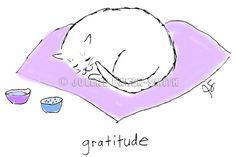 Gratitude  Fine Art Notecards Cat Lover Cat Rescue by ArtByJulene