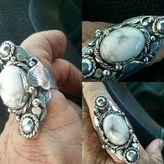 Three views of the boho ring from Leslie Kail Villarreal boho class.