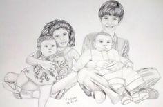 #arte #desenho #familia #kids #children #draw #pencil #family #lapis