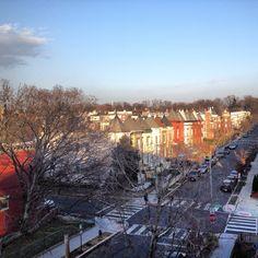 Washington DC's popular Bloomingdale neighborhood. Beautiful and colorful historic row homes in NW.