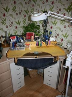 The Blue Peg Craft Bench which is made in Cornwall