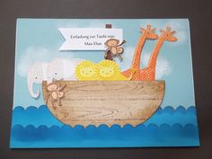 Einladungskarten - Taufeinladung mit persönlichem Namen & Arch... - ein Designerstück von Stempelscheune bei DaWanda