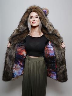 Grizzly Golden Galaxy Faux Fur Coat *Unisex*