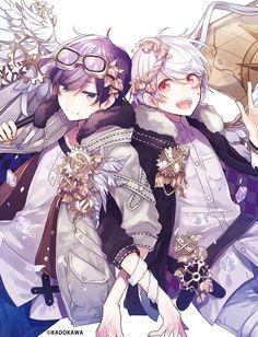 (Soraru and Mafumafu) Anime Chibi, Gato Anime, Chica Anime Manga, Vocaloid, Cute Anime Guys, Cute Anime Couples, Anime Boys, Anime Cosplay, Manga Art