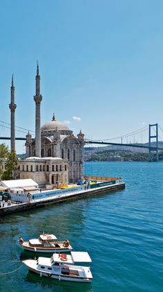ORTAKOY MOSQUE : was built by (Armenian Architect) Nigogos BALYAN. in Baroque-style for Sultan Abdulmecit, between 1854-1855, in Istanbul. Nigogos new desing was tried in This Mosque and Dolmabahce Mosque.  The hotel looks towards the Bosphorus Bridge.