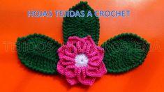 Hojas tejidas a crochet fáciles de tejer
