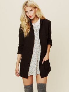 Free People Poetic Verse Sweater Blazer, $148.00  -Love the outfit as a whole