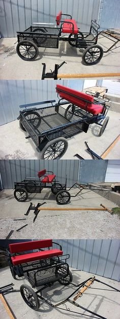 Other Driving Equipment 13376: New Mini Or Pony Size 4 Wheel Utility Horse Drawn Carriage Shafts And Pole Black -> BUY IT NOW ONLY: $1800 on eBay!