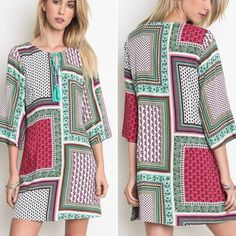 Gorgeous shift dress Beautiful print shift dress. Please do not purchase this listing. Comment with size and I will create a new listing for you. Small (2/4) Medium (6/8) Large (10/12). Price is firm unless bundled. Dresses