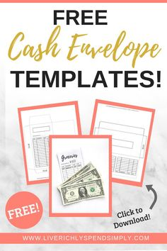 Free printable cash envelope templates! Transform your spending habits by using the cash envelope method! #cashenvelopesystem #DIYcashenvelopes #cashenvelopetemplate