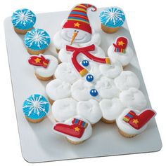 Pull Apart Cupcake Cakes | snowman pull apart cupcake cake.jpg